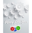 Snowflakes Background Happy New Year vector image vector image