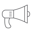 speaker thin line icon loud and announcement vector image