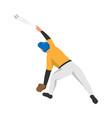 sport baseball player composition vector image