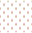 Strawberry ice cream in a waffle cone pattern vector image
