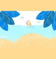 summer rest sea landskape paradise sandy shore vector image vector image