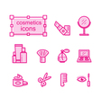 Thin line icons set Cosmetics vector image vector image