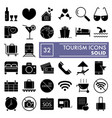 tourism glyph icon set holiday symbols collection vector image vector image