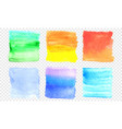 watercolor banner set color square smear of vector image