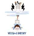 Welcome baby boy vector image vector image