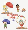autumn kids activities vector image
