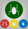dust mite sign 4 white vector image