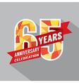 65th Years Anniversary Celebration Design vector image