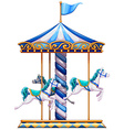 A merry-go-round ride vector image vector image