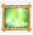 abstract spa or beach bamboo tropical border with vector image vector image