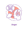 anger concept icon vector image