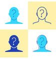 anonymity concept icon set in flat and line style vector image vector image