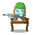 army dressing table character cartoon vector image