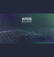 artificial intelligence wave light vector image