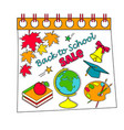back to school calendar sale background with vector image