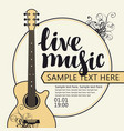 banner for concert of live music with guitar vector image vector image