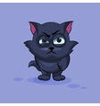 Black cat angry vector image