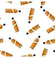 bottle of bourbon whiskey vector image vector image