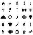 brabecue icon set vector image