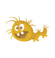 brown bacteria cartoon character icon vector image vector image