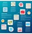 Business infographic options vector image vector image