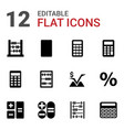 calculation icons vector image vector image