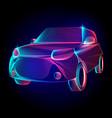 car or automobile vehicle contour silhouette vector image vector image
