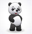 cartoon panda standing vector image vector image