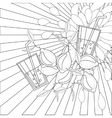 coloring book page lemons and juice vector image