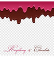 dark chocolate jam raspberry seamless pattern vector image vector image