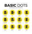 database flat icons set vector image vector image