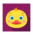 duck muzzle icon in flat style isolated on white vector image vector image
