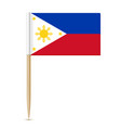 flag philippines toothpick 10eps vector image
