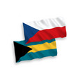 flags czech republic and commonwealth the vector image vector image