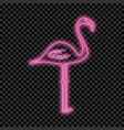 flamingo neon sign vector image vector image