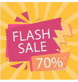 flash sale 70 off bolt orange background i vector image