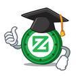 graduation zcoin character cartoon style vector image vector image