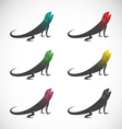 group of chameleon vector image vector image