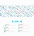 handmade concept with thin line icons vector image vector image
