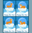 happy new year set of posters vector image vector image