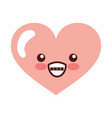 heart love kawaii character vector image