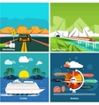 Icons set of traveling and planning a vacation vector image vector image