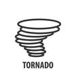 logo template tornado vector image