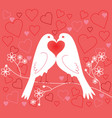 lovebirds valentines day vector image vector image