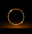 magic gold circle frame glowing fire ring logo vector image vector image