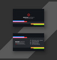 modern black business card template vector image vector image