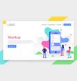 modern flat design concept app development