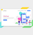 modern flat design concept of app development for vector image vector image