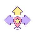 movement mechanics rgb color icon vector image