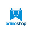online shop logo template designs vector image vector image